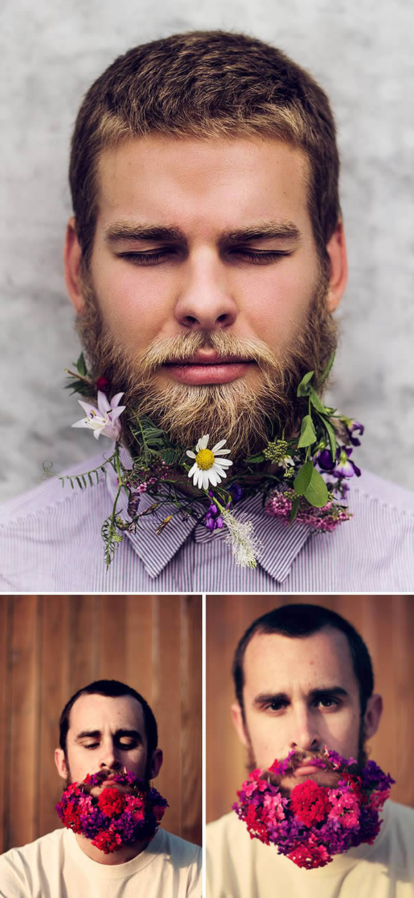 flowers beards funny fashion trends