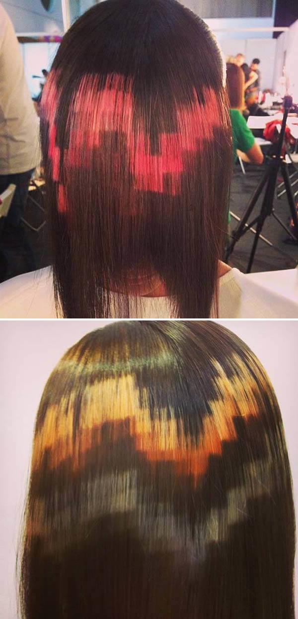 pixelated hair funny fashion trends