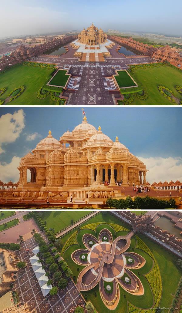akshardham temple india modern architectural wonders