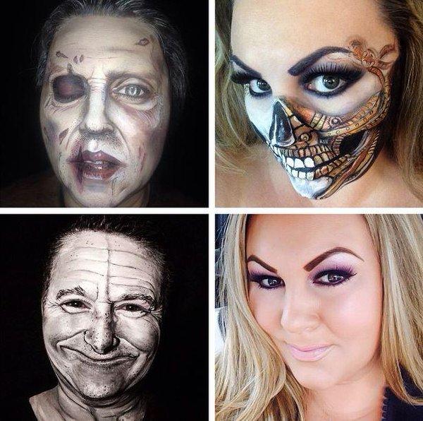 makeup artists transformation celebrities