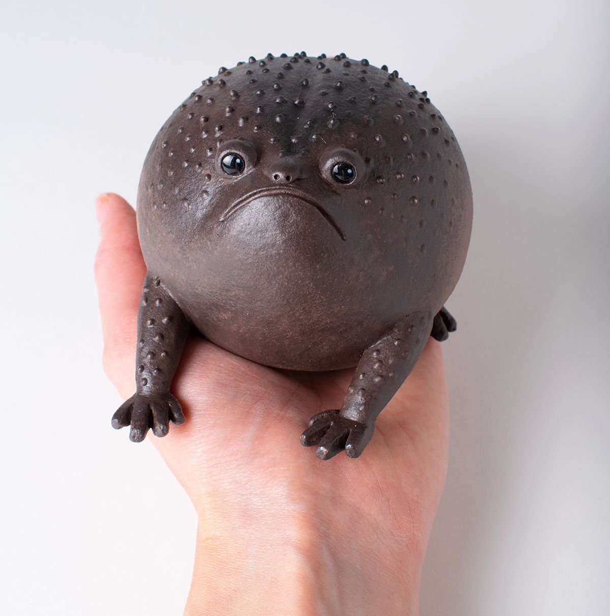 ceramic creatures noseymungo blackrainfrog helen burgess