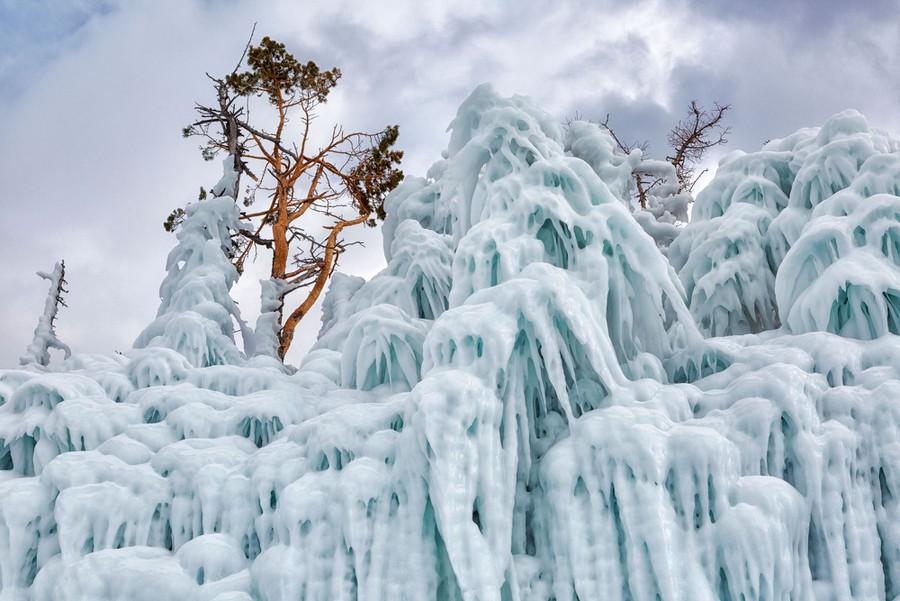 beautiful ice formation lake baikal shchipkova