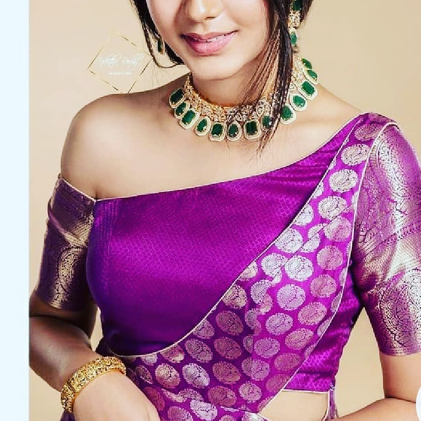 funny blouse design purple traditional