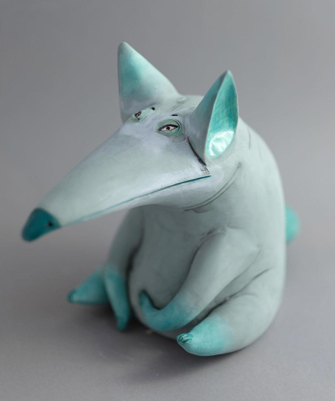 ceramic animal sculpture pig nastia calaca