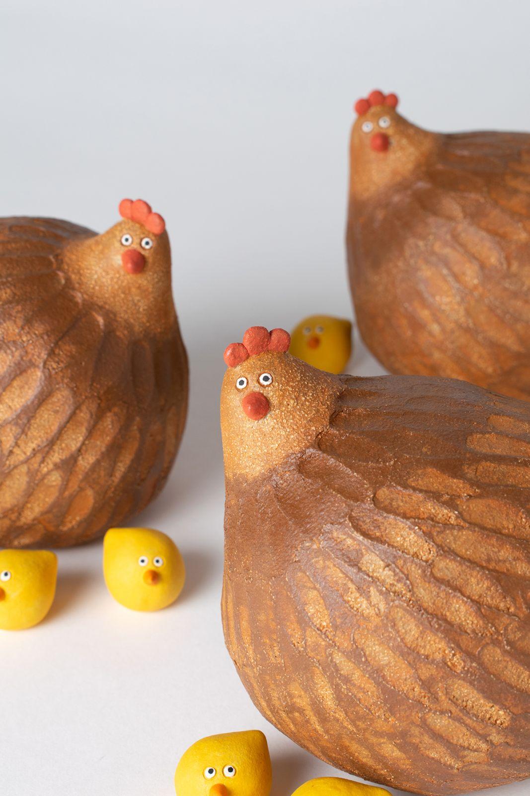 ceramic artwork noseymungo cock family helen burgess