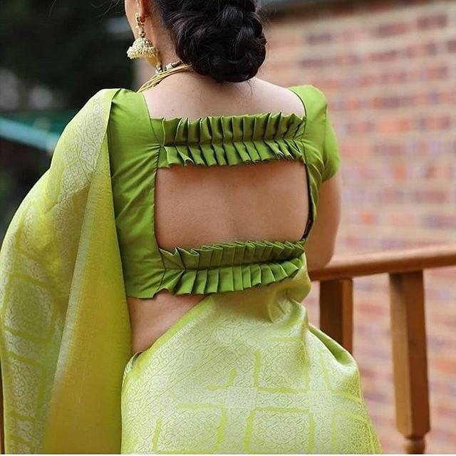 funny blouse design green tracks