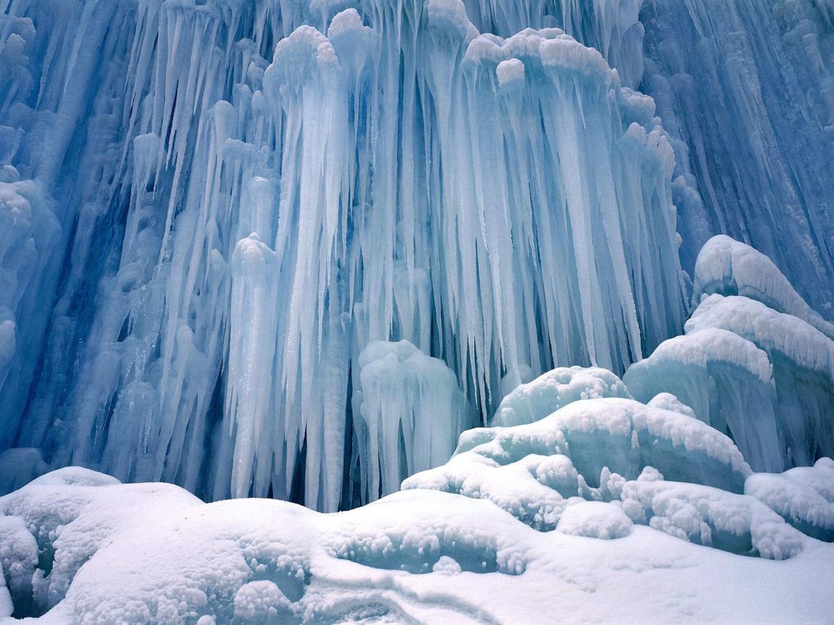 beautiful ice formation frozen water fall gabrielle shoenfelt