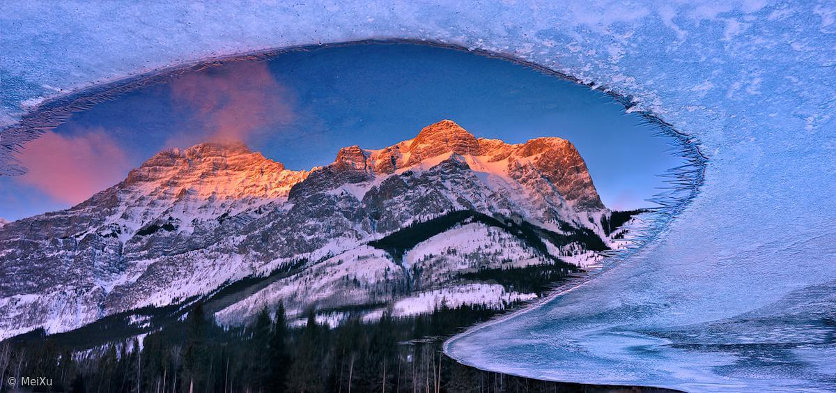 beautiful ice formation ice frame mei xu