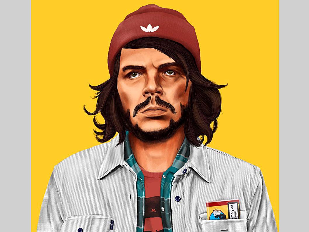 funny hipster portrait che guara amit shimoni