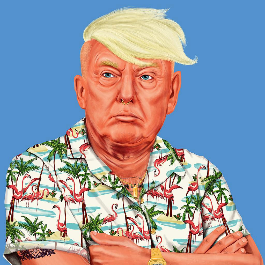 funny hipster portrait donald trump amit shimoni
