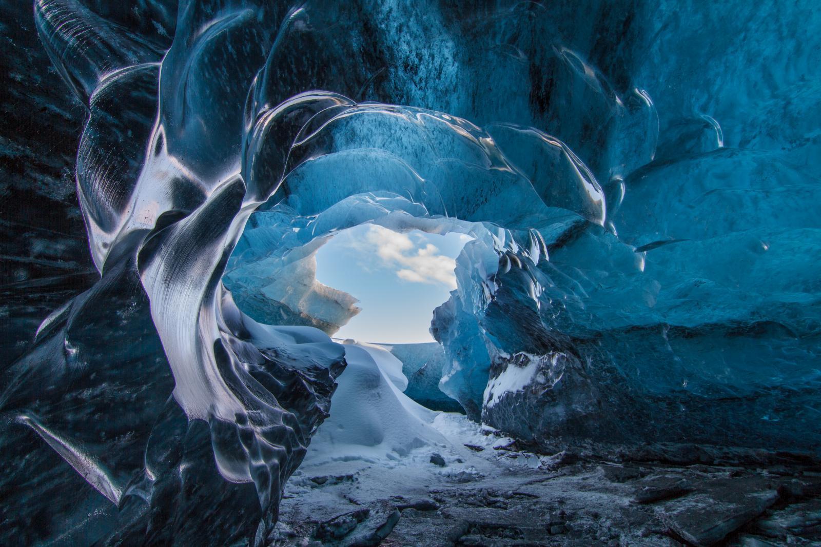 beautiful ice formation ice cave claidio ciceri
