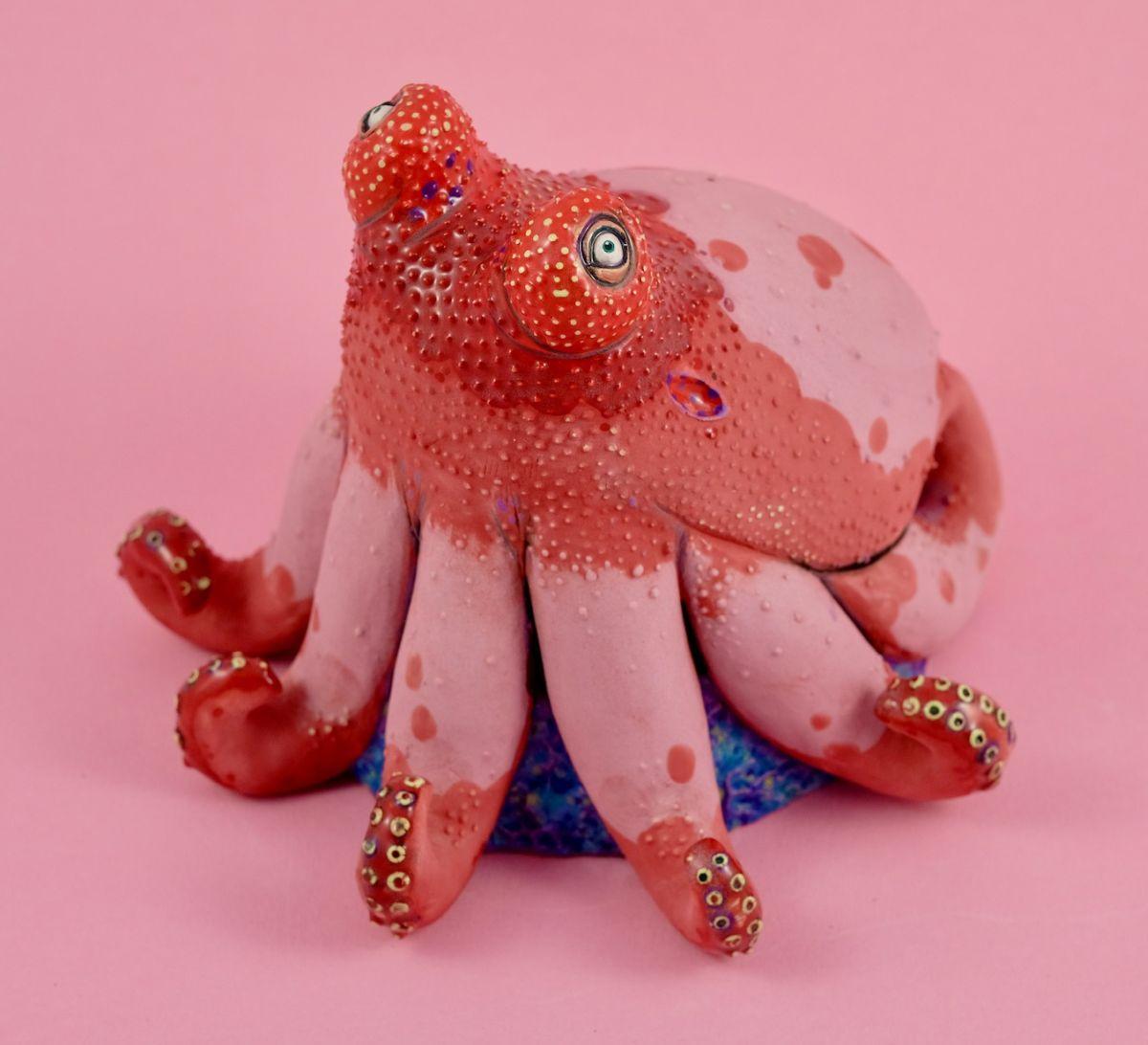 creative ceramic art work octopus nastia calaca