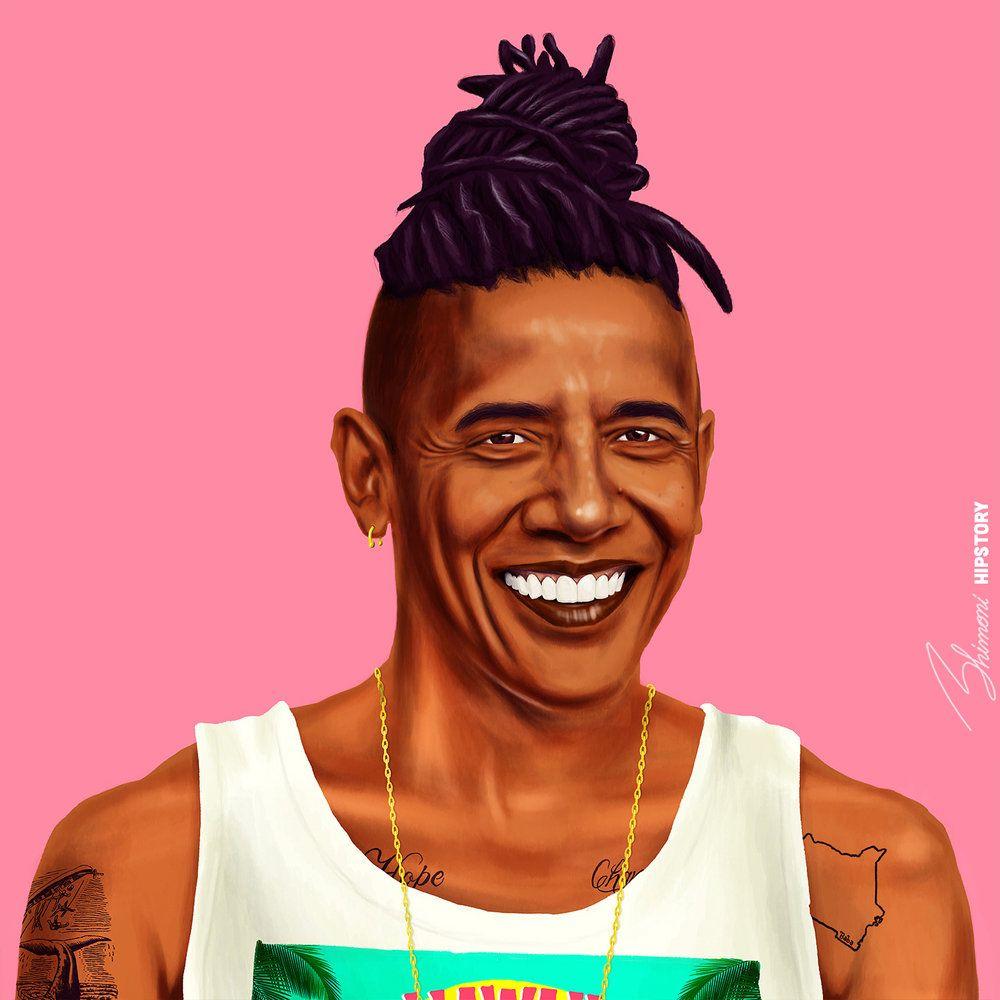 funny hipster portrait barack obama amit shimoni