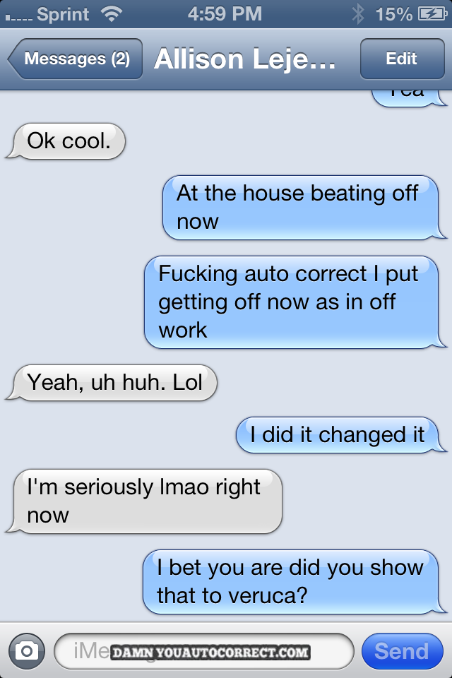 funny autocorrect texts