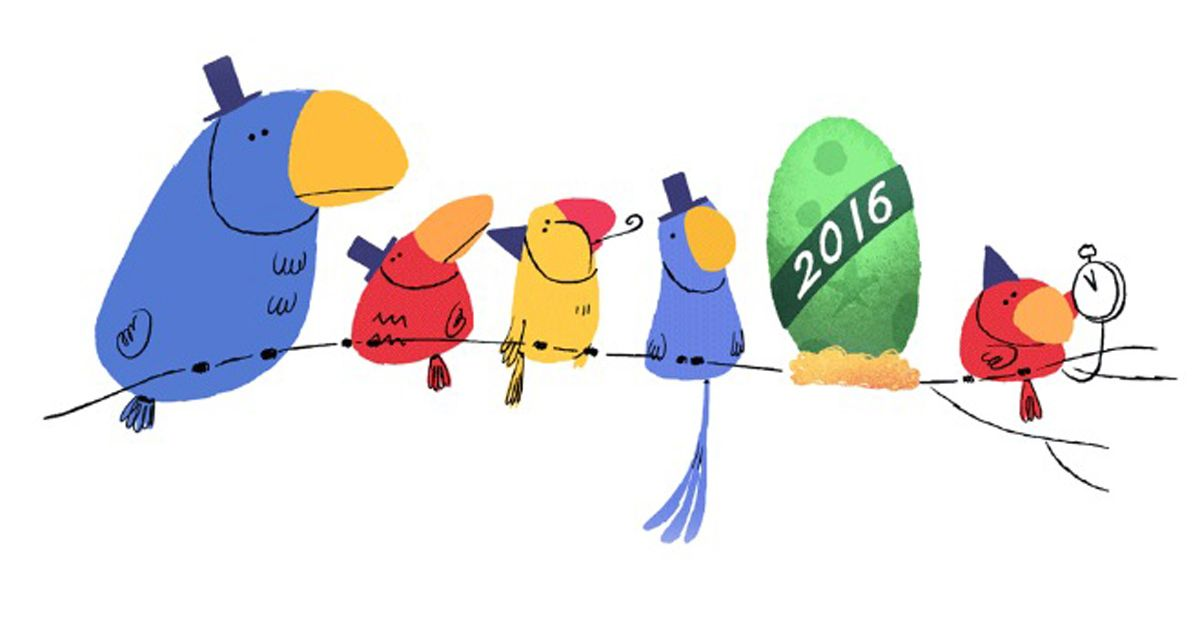 new year funny google doodles