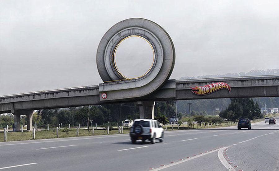 excellent billboard hotwheels design found around world