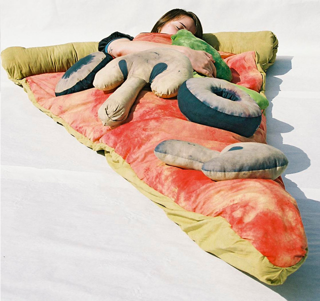 funny gift pizza sleeping bag