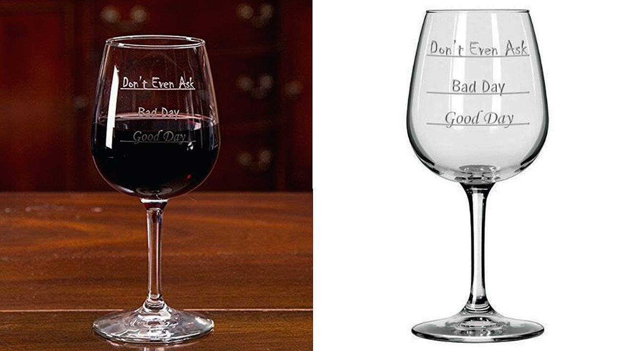 funny gift dont even ask wine glass