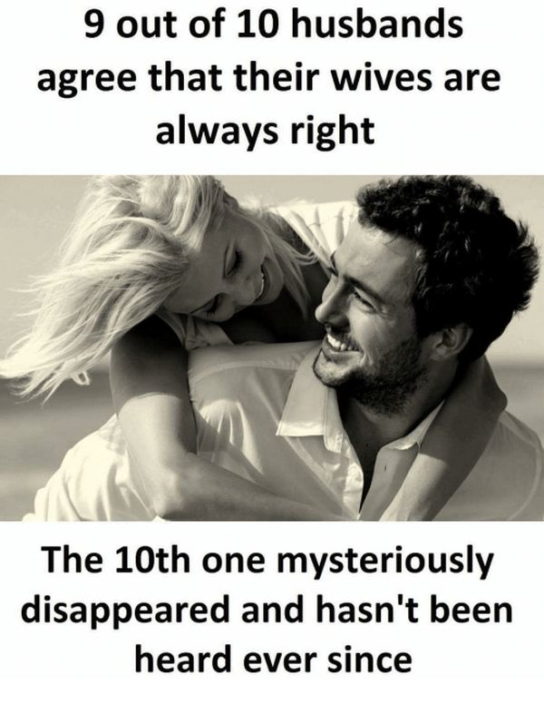 funny husband and wife meme image