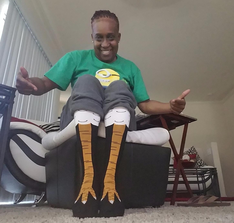 funny gift chicken leg socks