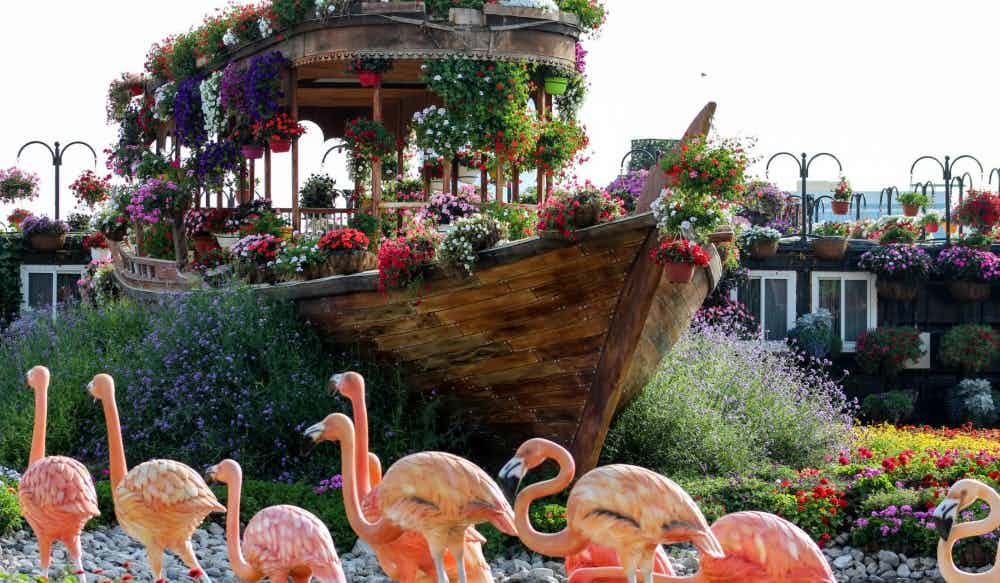 beautiful garden boat dubai miracle garden