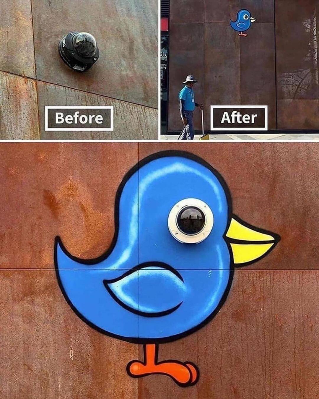 funny street art painting tom bob