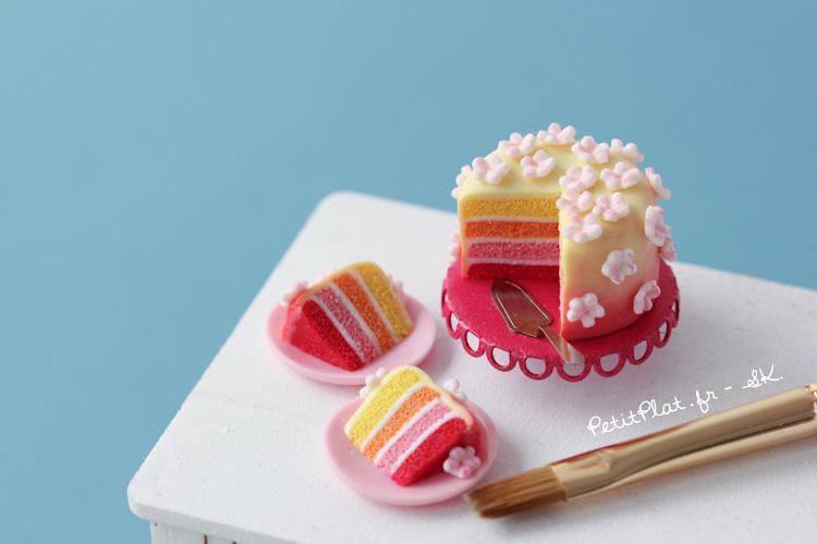 miniature cake petitplat