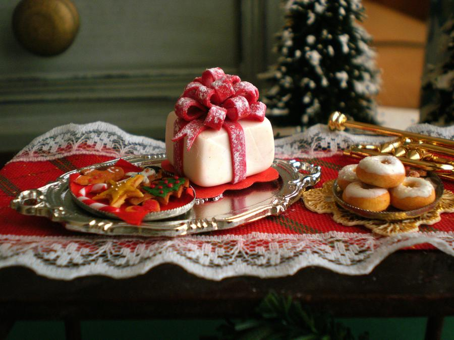miniature cake christmas vesssper