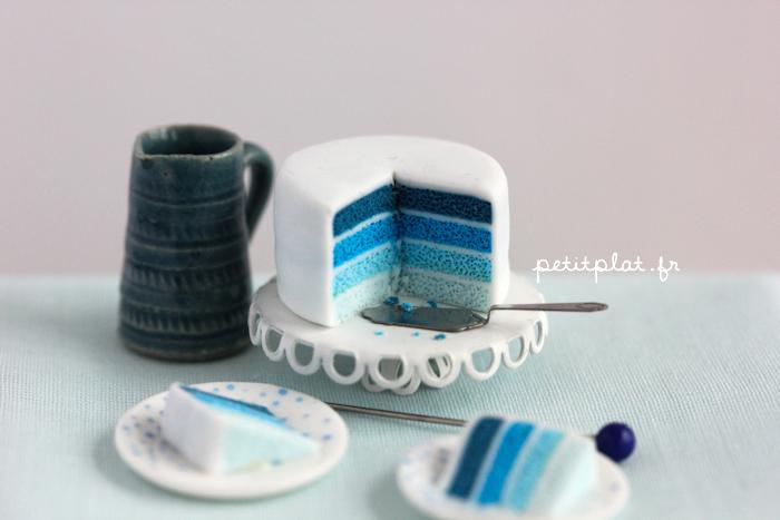 miniature cake shades blue petitplat