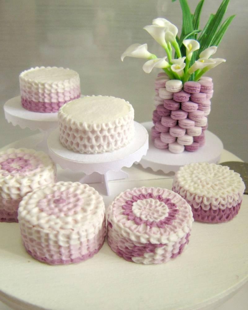 miniature cake purple petal snowfern