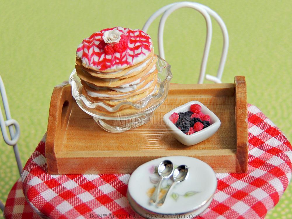 miniature cake raspberry crepe cake peppertree
