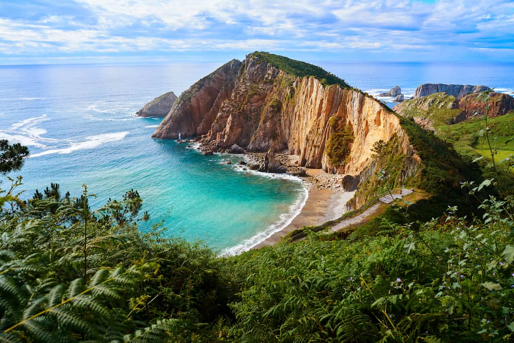 playa del silencio beach spain beautiful tourist place spain