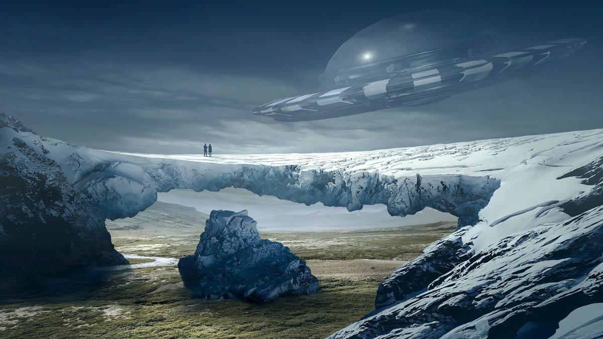 ufo picture near bridge