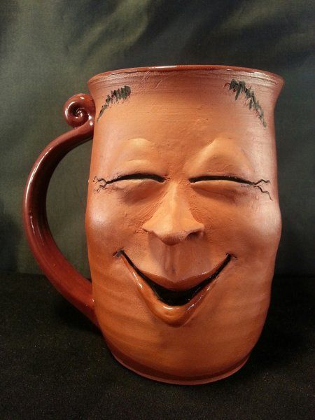 funny mug design laughing face