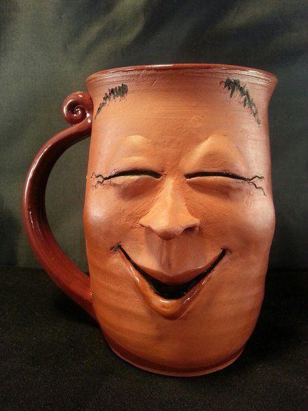 funny mug design laughing face