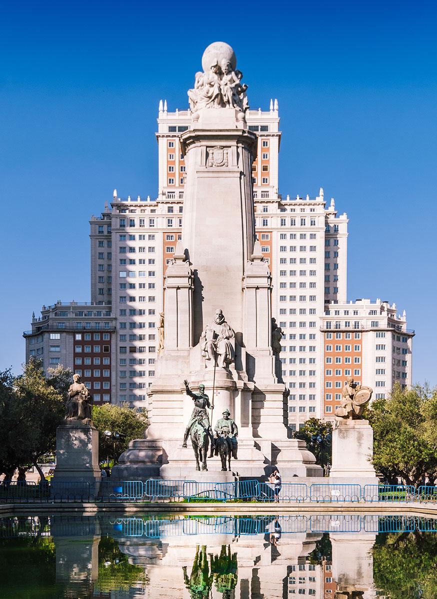 plaza de espana madrid beautiful tourist place spain