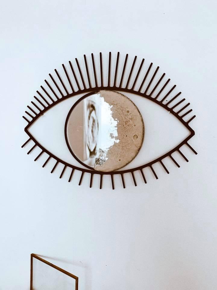 unusual shape mirror funny granila santisteban
