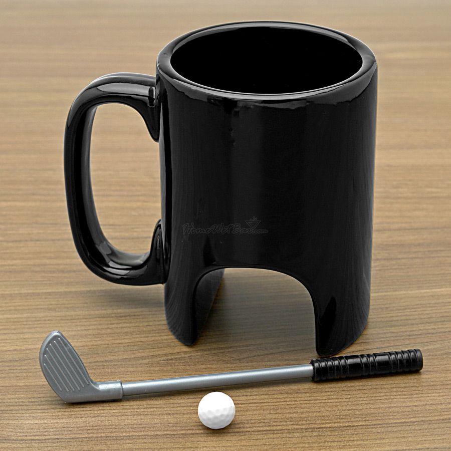 funny coffee mug golf