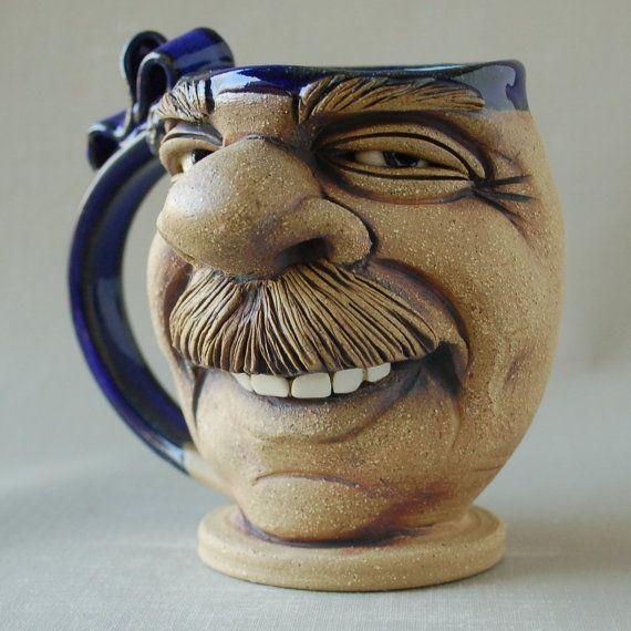 funny coffee mug face