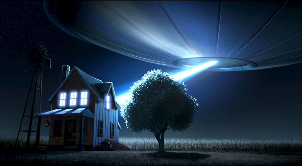 ufo picture light house