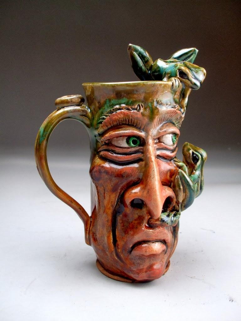 funny mug face graftonpottery