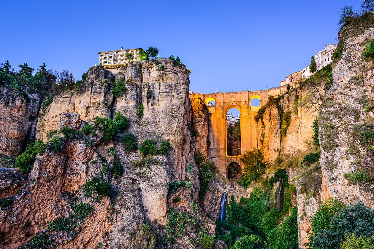 ronda mountaintop city spain beautiful tourist place spain