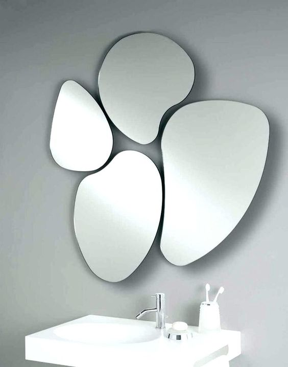 unusual shape mirror funny