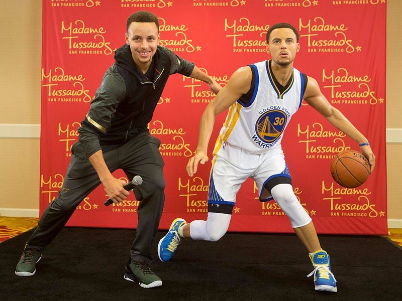 wax figure celebrity stephen curry london museum