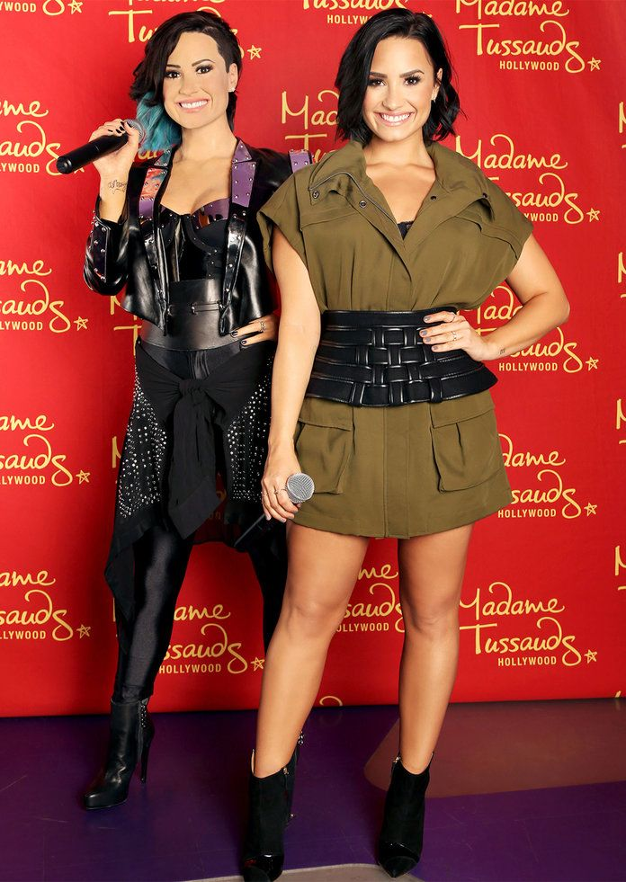 wax figure celebrity demi lovato london museum