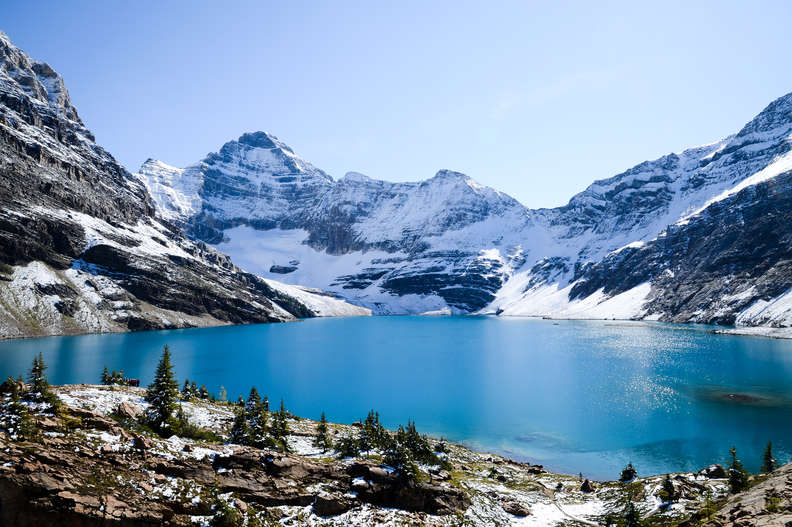 beautiful lake mcarther yoho national park canadian rockies