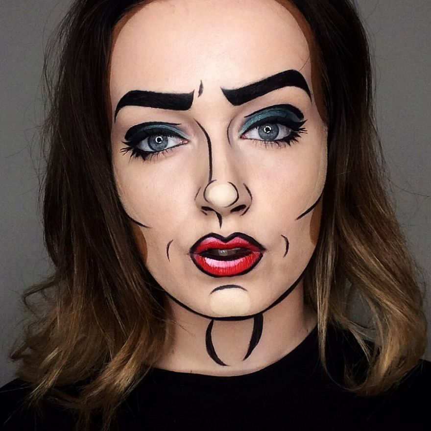 funny face painting makeup artist ellie lewis