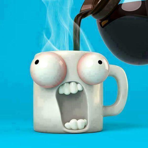 funny mug design popping eyes