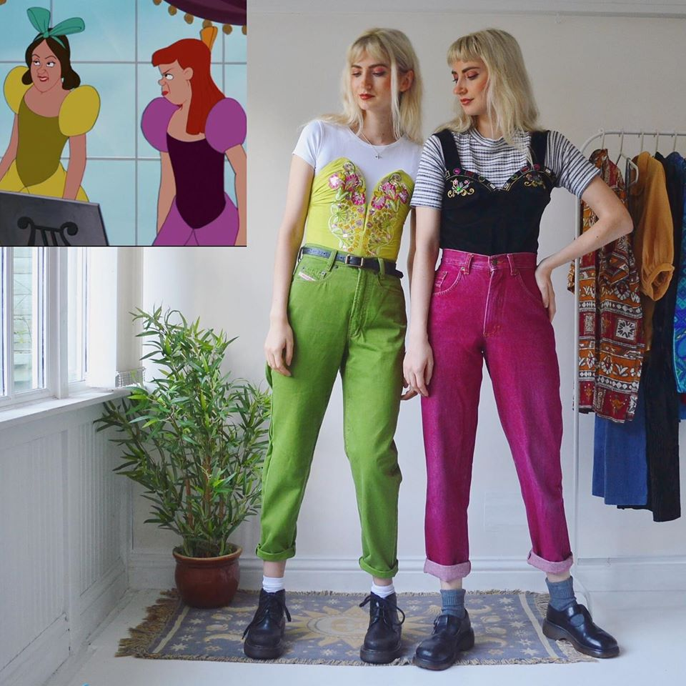 funny and famous characters vintage clothes danielle and nicole