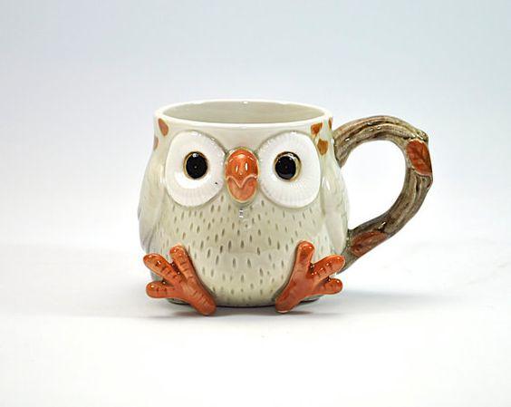 funny coffee mug owl